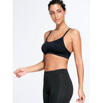 Adjustable Padded Comfortable Sports Bra - BLACK M