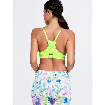Adjustable Padded Comfortable Sports Bra - FLUORESCENT YELLOW S
