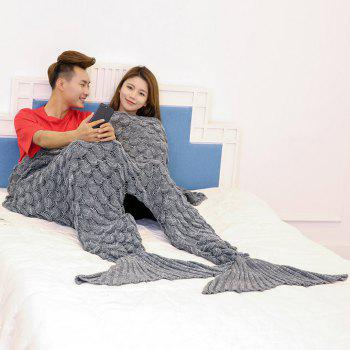 Fish Scale Knitted Pattern Mermaid Blanket For Lovers - 180*155CM 180*155CM