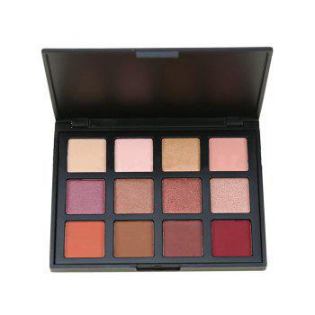 12 Colors Eyeshadow Cosmetic Palette - MULTI multicolor
