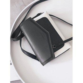 Enveloppe Faux Leather Crossbody Bag - Noir
