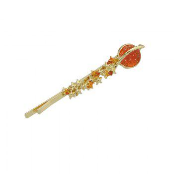 Star Shaped Decoration Hairpin - RED