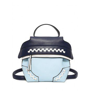 Weave Colour Block Backpack