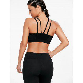 Strappy Padded Yoga Bra - BLACK M