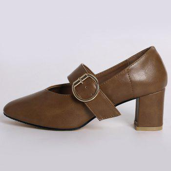Mary Jane Square Toe Pumps - 37 37