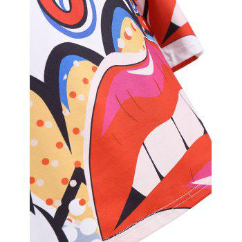 Plus Size Graphic Tunic Dress - WHITE 4XL