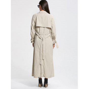 Belted Wrap Maxi Trench Coat - XL XL