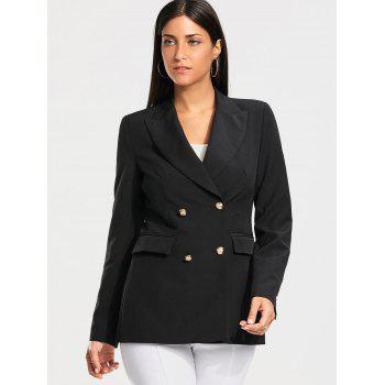 Casual Double Breasted Plain Blazer - S S