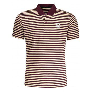Striped Mens Polo T-shirt - STRIPE STRIPE