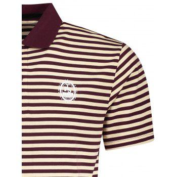 Striped Mens Polo T-shirt - STRIPE L