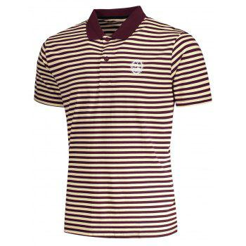 Striped Mens Polo T-shirt - L L