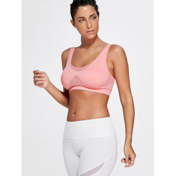 Strappy Padded Yoga Bra - LIGHT PINK L