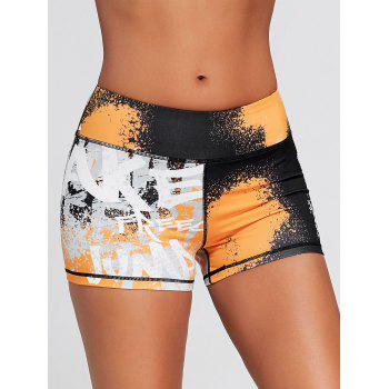 Hit Color Tie Dye Tight Sports Shorts - multicolorCOLOR multicolorCOLOR