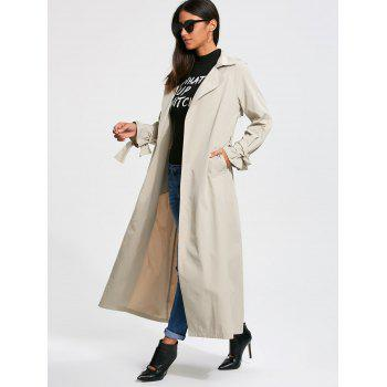 Belted Wrap Maxi Trench Coat - OFF WHITE OFF WHITE