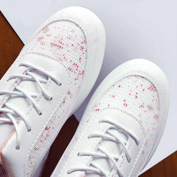 Printed Mesh Breathable Athletic Shoes - PINK PINK