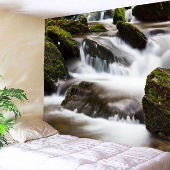 Torrent Creek Waterproof Wall Decor Hanging Tapestry - GREEN GREEN