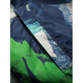 Splatter Paint Camouflage Lightweight Jacket - BLUE 2XL