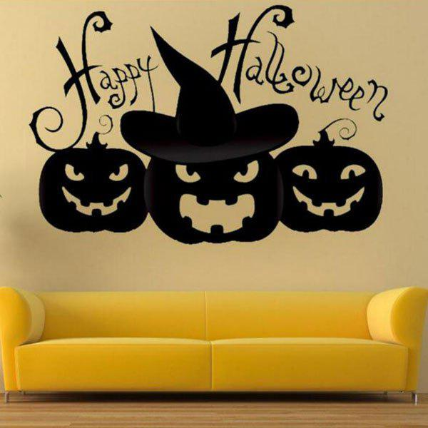 2018 DIY Halloween Pumpkin Shape Decoration Wall Stickers BLACK In ...