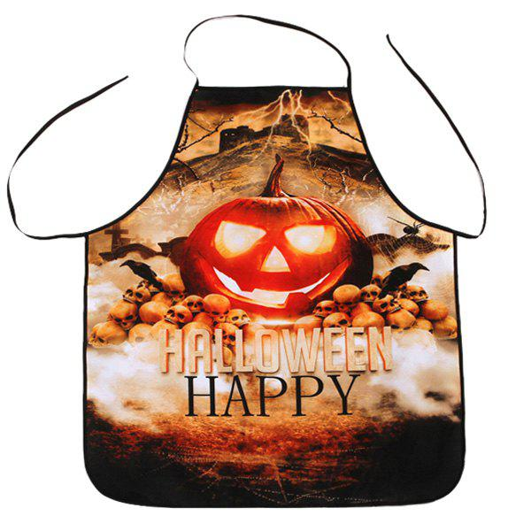 Kitchen Cooking Halloween Pumpkin Fabric Apron - COLORMIX 80*70CM