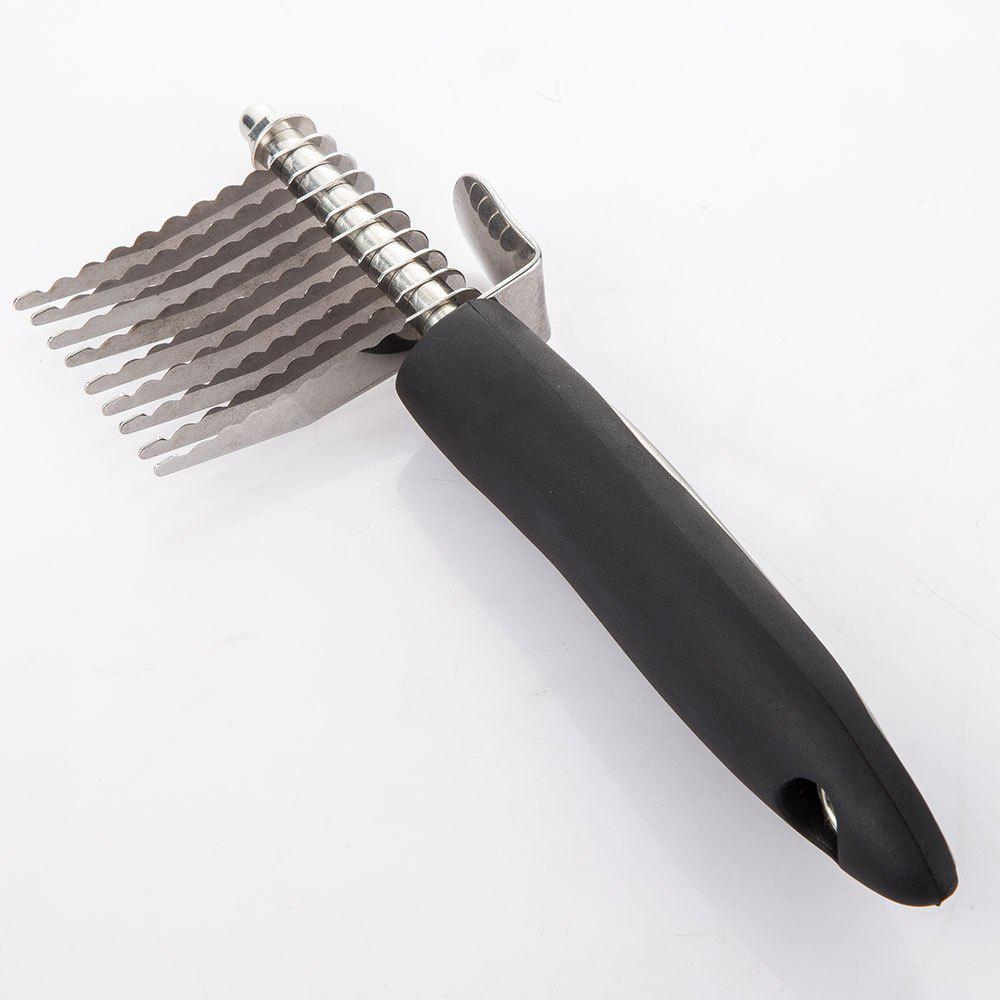 Pet Dog Stainless Steel Comb Knotted Hair Brush Knife - STAINLESS STEEL