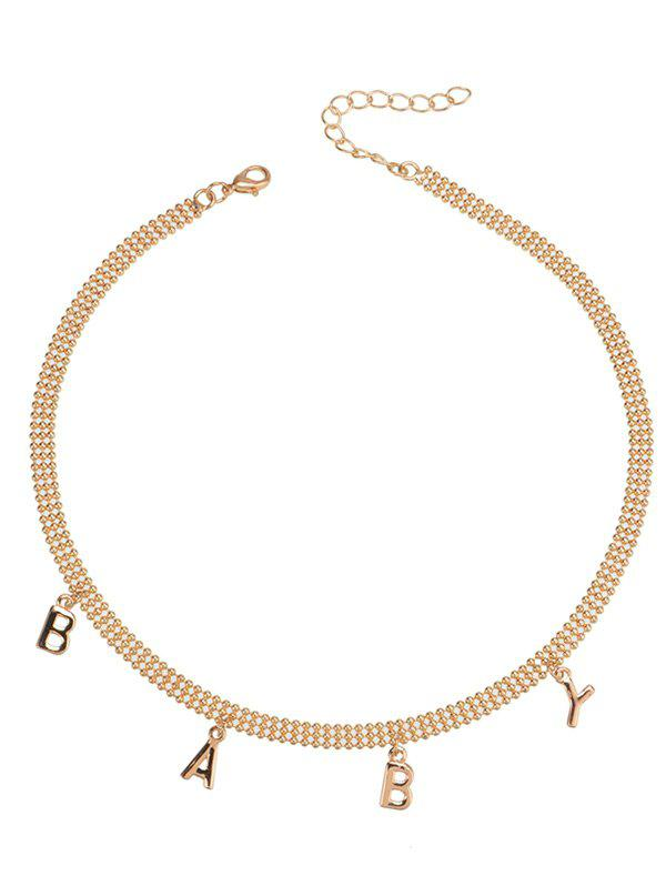 BABY Pendant Choker Necklace - GOLDEN