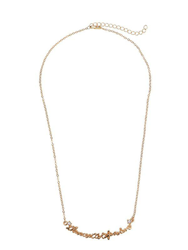 Nameplate Link Chain Necklace - GOLDEN