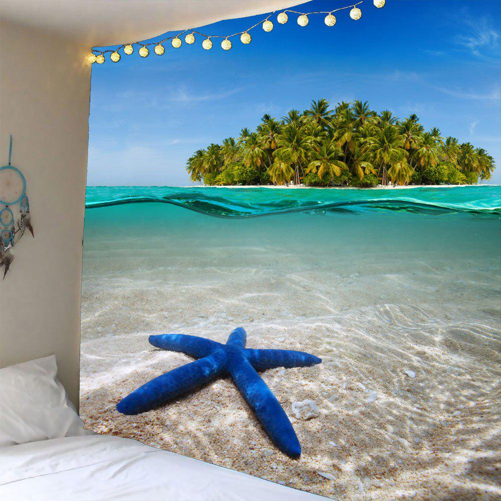 Starfish Island Wall Decor Hanging Waterproof Tapestry - GREEN W59 INCH * L51 INCH