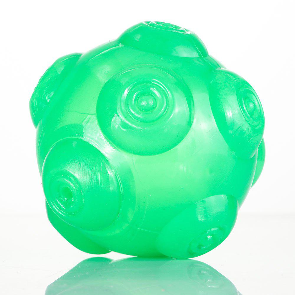 Pet Chomper Toy Dog Hollowed Thrower Ball - GREEN