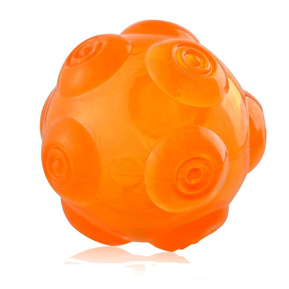 Pet Chomper Toy Dog Hollowed Thrower Ball - ORANGE RED