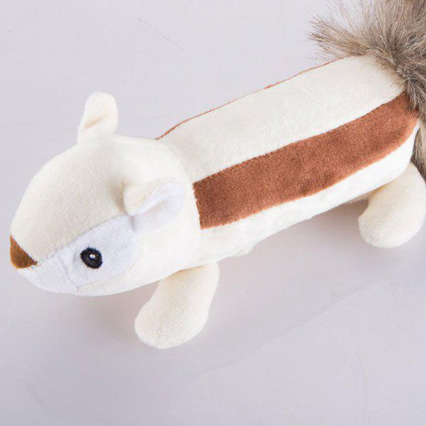 Big Tail Animal Plush Toy for Pet Dog super soft frisbee ufo style silicone indoor outdoor toy for pet dog light green