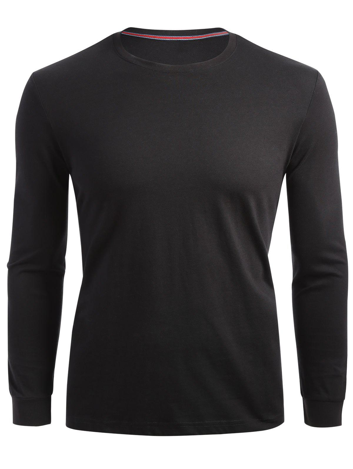 Stretch Long Sleeve T-shirt - BLACK 2XL