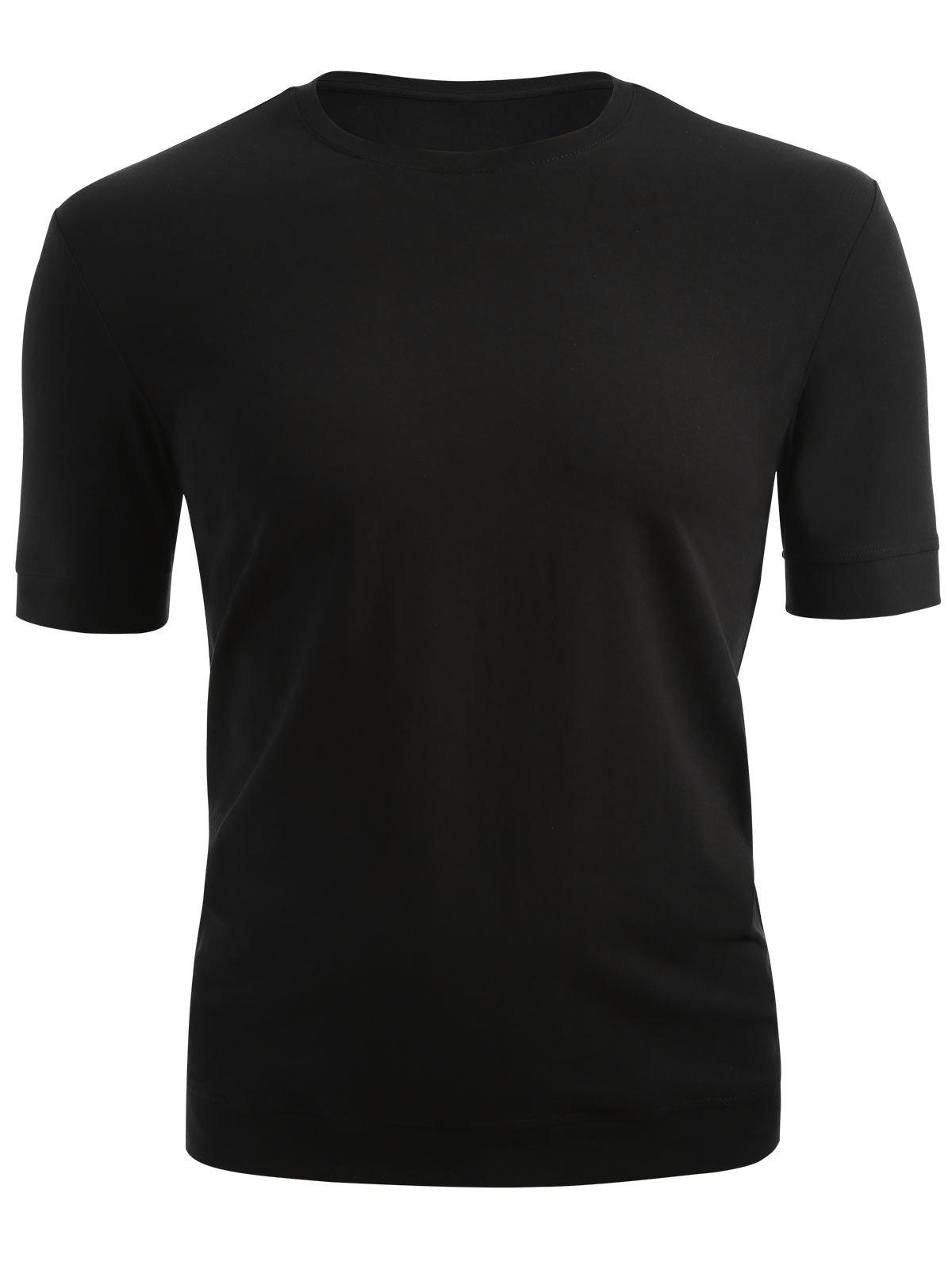 Classic Short Sleeve T-shirt - BLACK 2XL