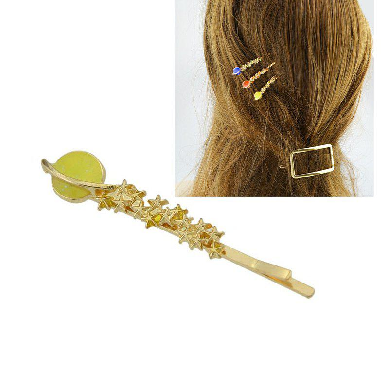 Star Shaped Decoration Hairpin - YELLOW