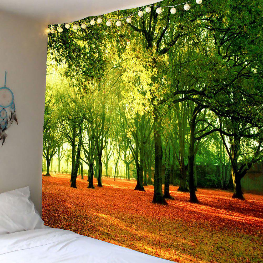 Hanging Fallen Leaves Trees Wall Art Tapestry coloring of trees