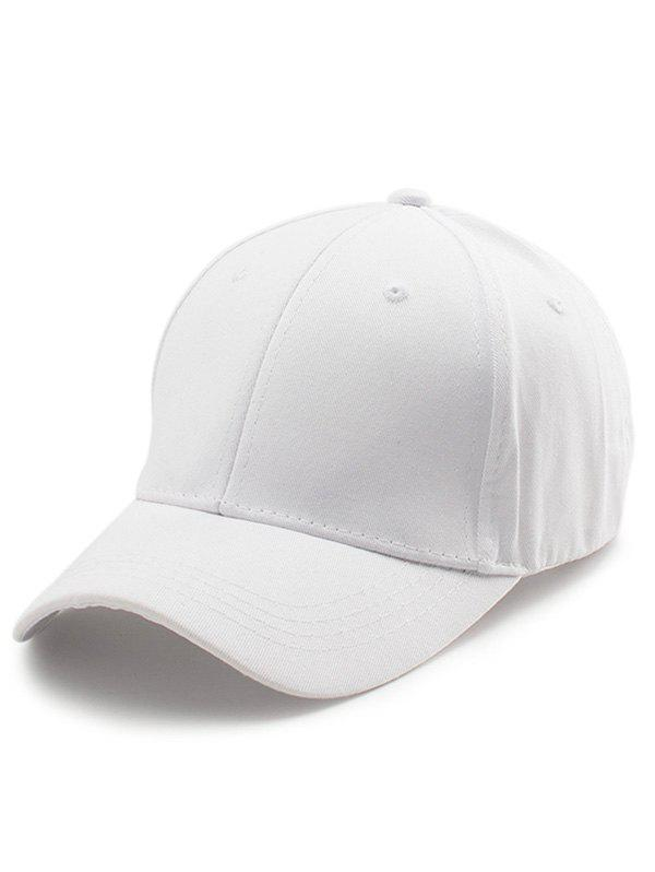 Letters Embroidery Back Baseball Cap - WHITE