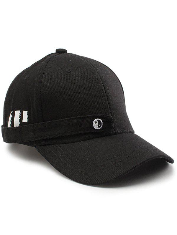 Tiny Rectangle Eight Diagrams Baseball Cap - BLACK
