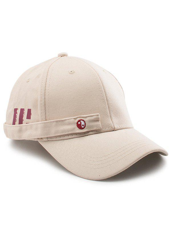 Tiny Rectangle Eight Diagrams Baseball Cap - KHAKI