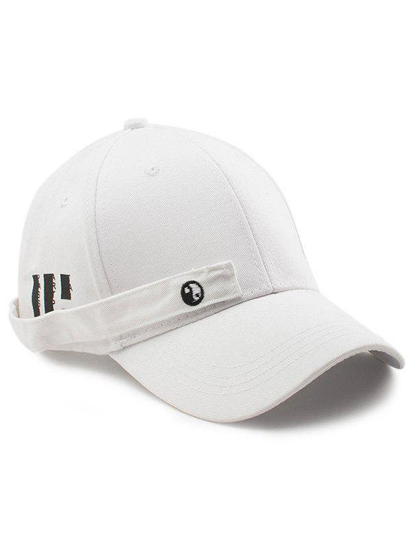 Tiny Rectangle Huit Diagrammes Casquette de baseball - Blanc