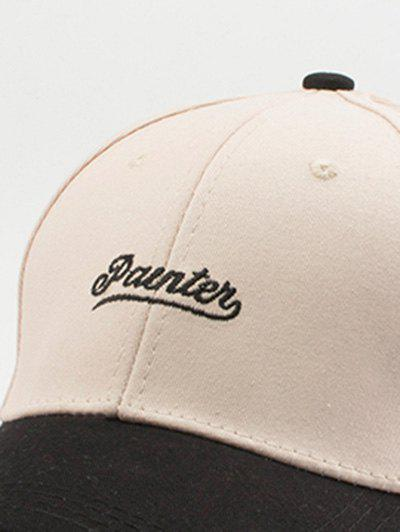 Letters Embroidery Two Tone Baseball Cap - OFF WHITE