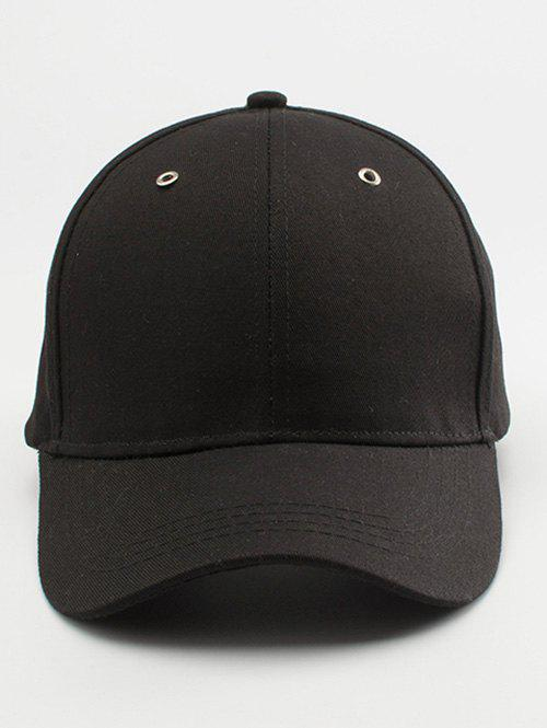 Lettre Embellished Long Tail Baseball Cap - Noir