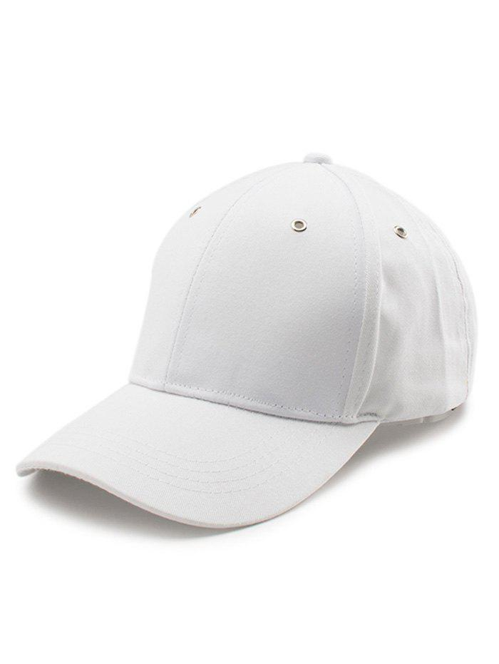 Lettre Embellished Long Tail Baseball Cap - Blanc