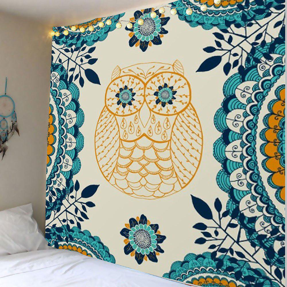 2018 Owl Leaves Printed Wall Art Tapestry COLORFUL W INCH L INCH In ...