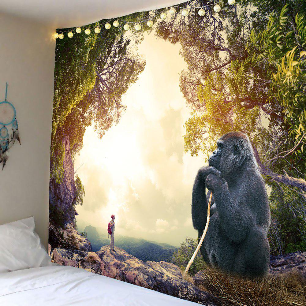 Gorilla Printed Wall Hanging Tapestry outer space printed wall hanging tapestry