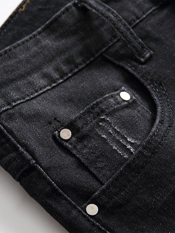 Shorts en denim Shred - Gris Noir 40