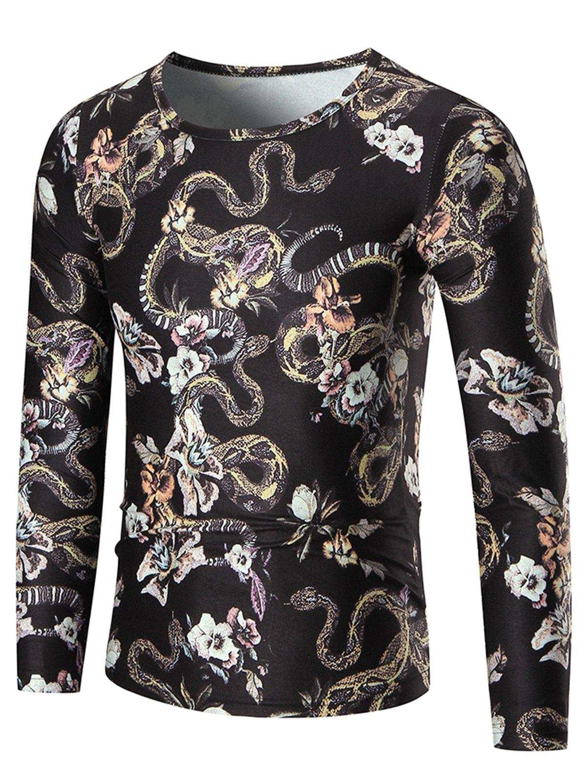 Boa Constrictor Long Sleeve T-shirt - COLORMIX 3XL