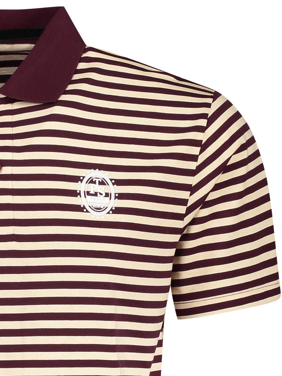 T-shirt Polo à Rayures pour Homme - Rayure M