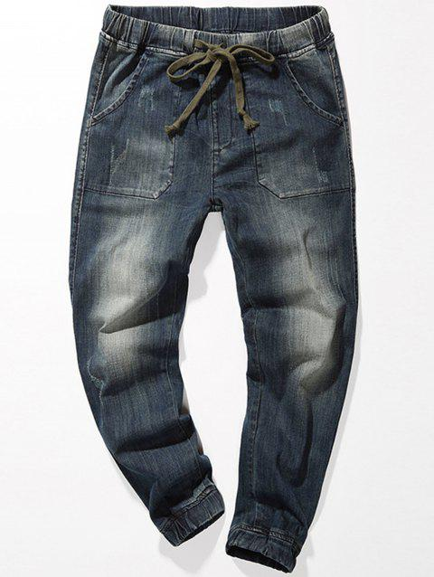 Joggeur Conique Jeans Denim - Bleu 40