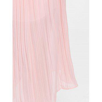 Plus Size Pleated Wide Leg Pants - LIGHT PINK LIGHT PINK