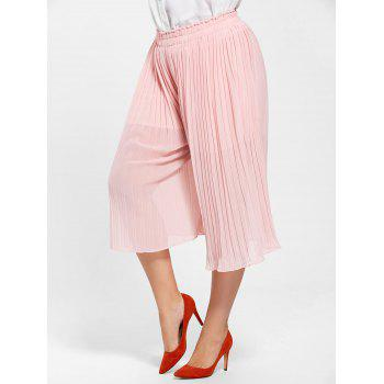 Plus Size Pleated Wide Leg Pants - 3XL 3XL