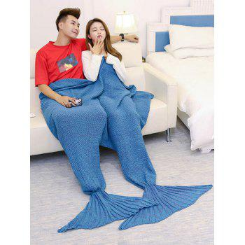 Knitted Throw Wrap Mermaid Blanket For Lovers - LAKE BLUE LAKE BLUE